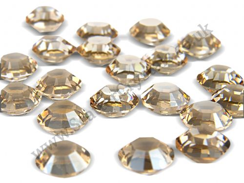 Pk 50 Swarovski Unfoiled Table Crystals, Style 1128, SS29 (6.2mm), Golden Shadow